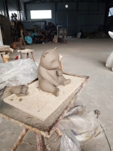 CLAY MOLD OF PANDA