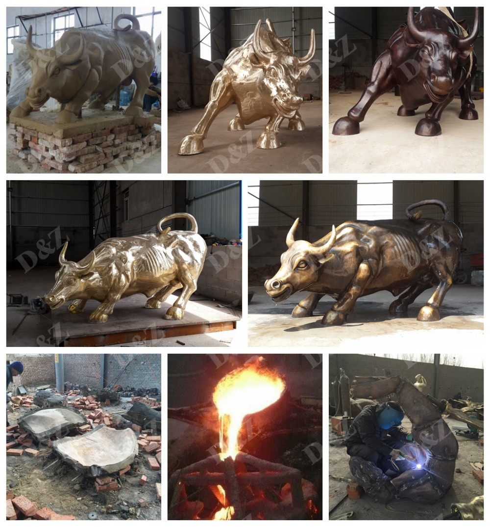 SCULPTURE OF ANIMAL BULL PROCESS
