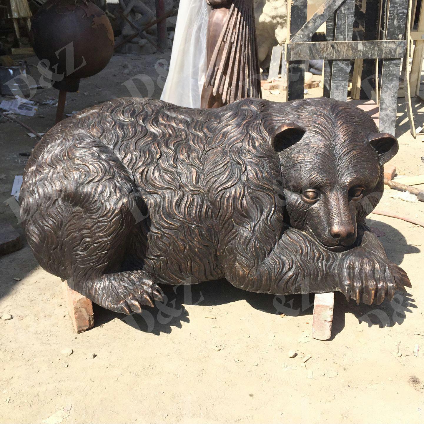 bronze bear statue