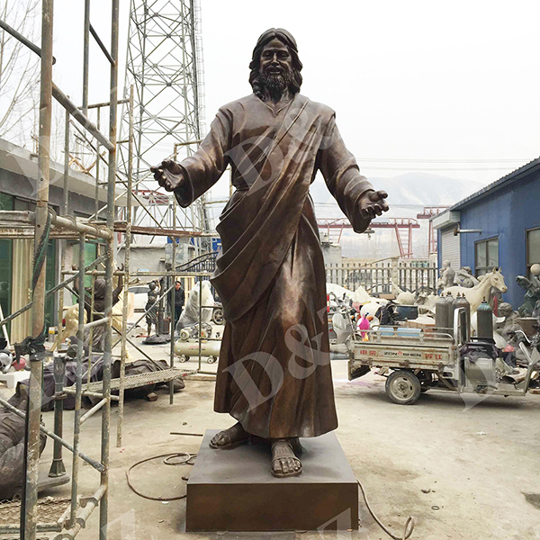 bronze jesus sculpture