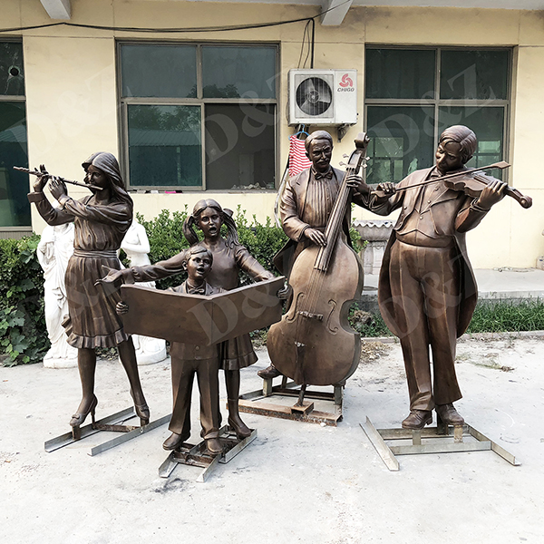 play music family sculpture