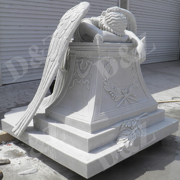 marble tombstone angel statue