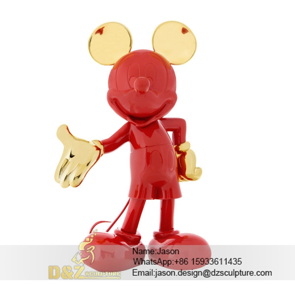 Red Mickey Mouse sculpture