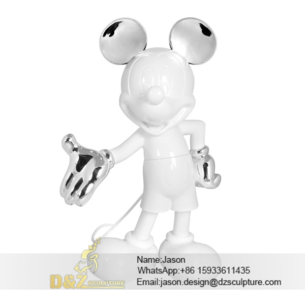 White Mickey Mouse sculpture