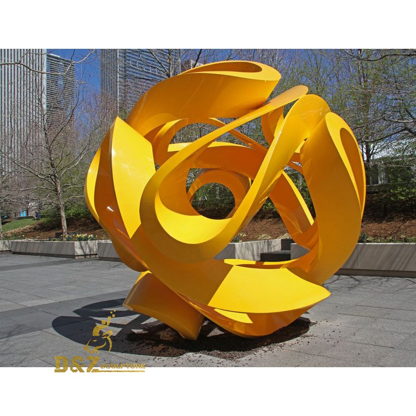 The yellow hollow sculpture