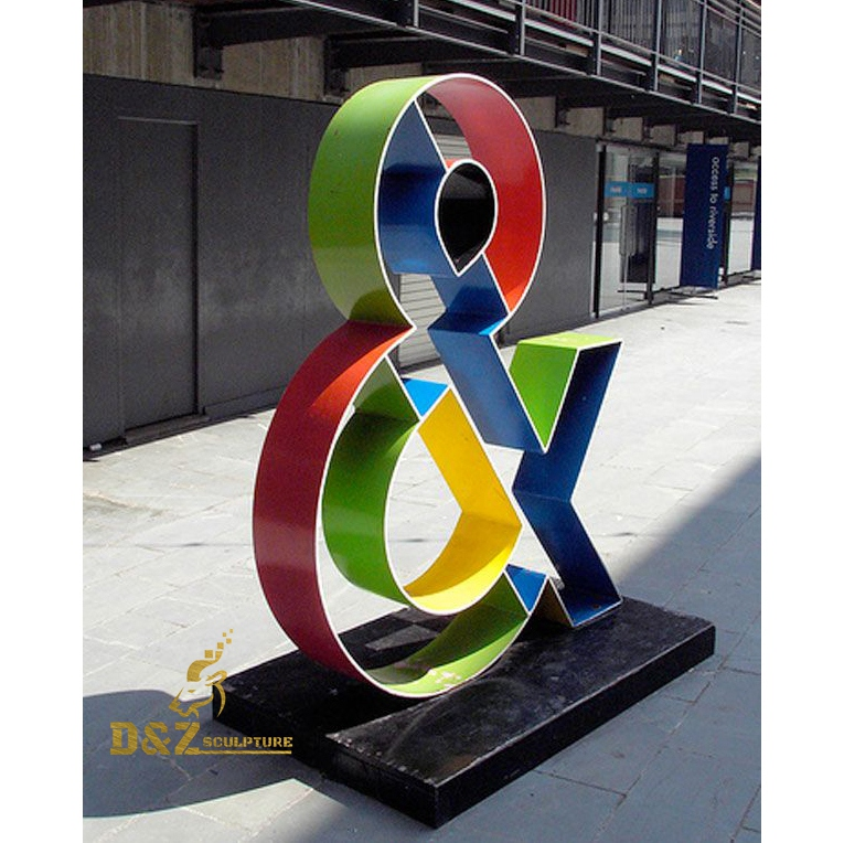 Colorful join number sculpture