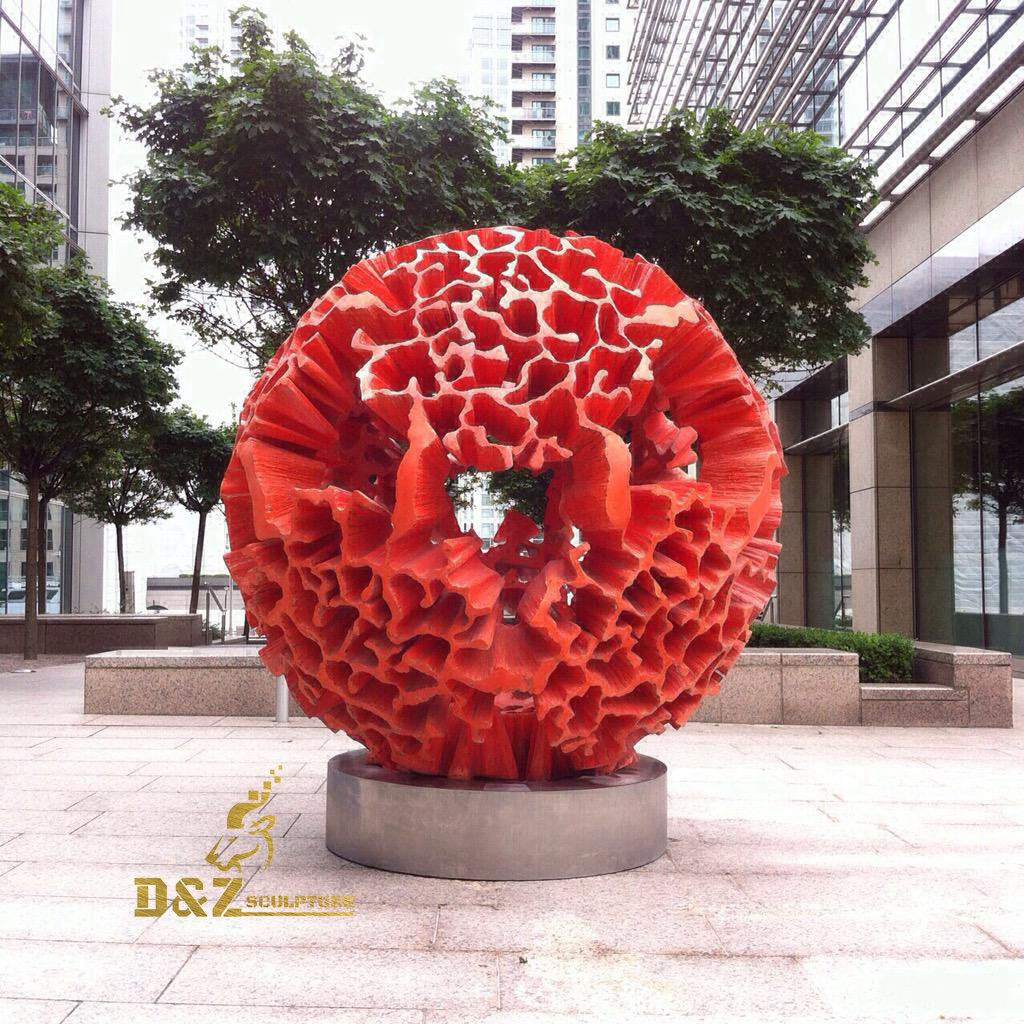 Coral-shaped red sculpture
