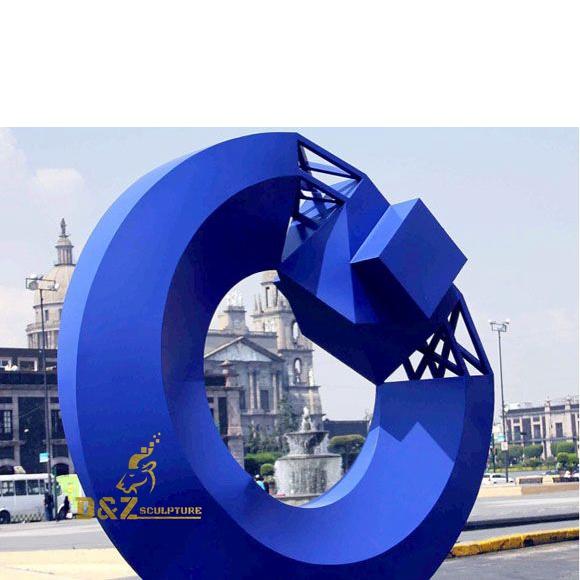 The blue half ball sculpture