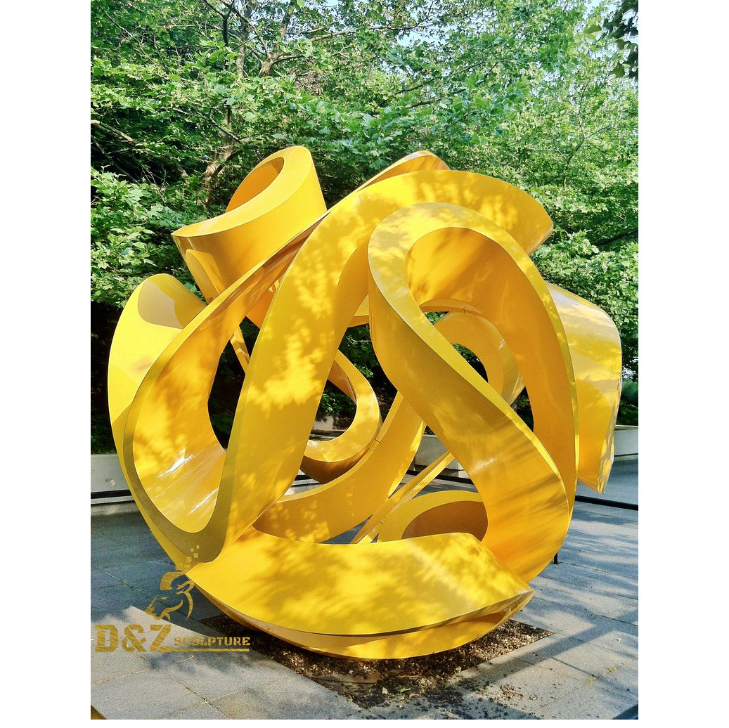 Yellow hollowed-out sculpture