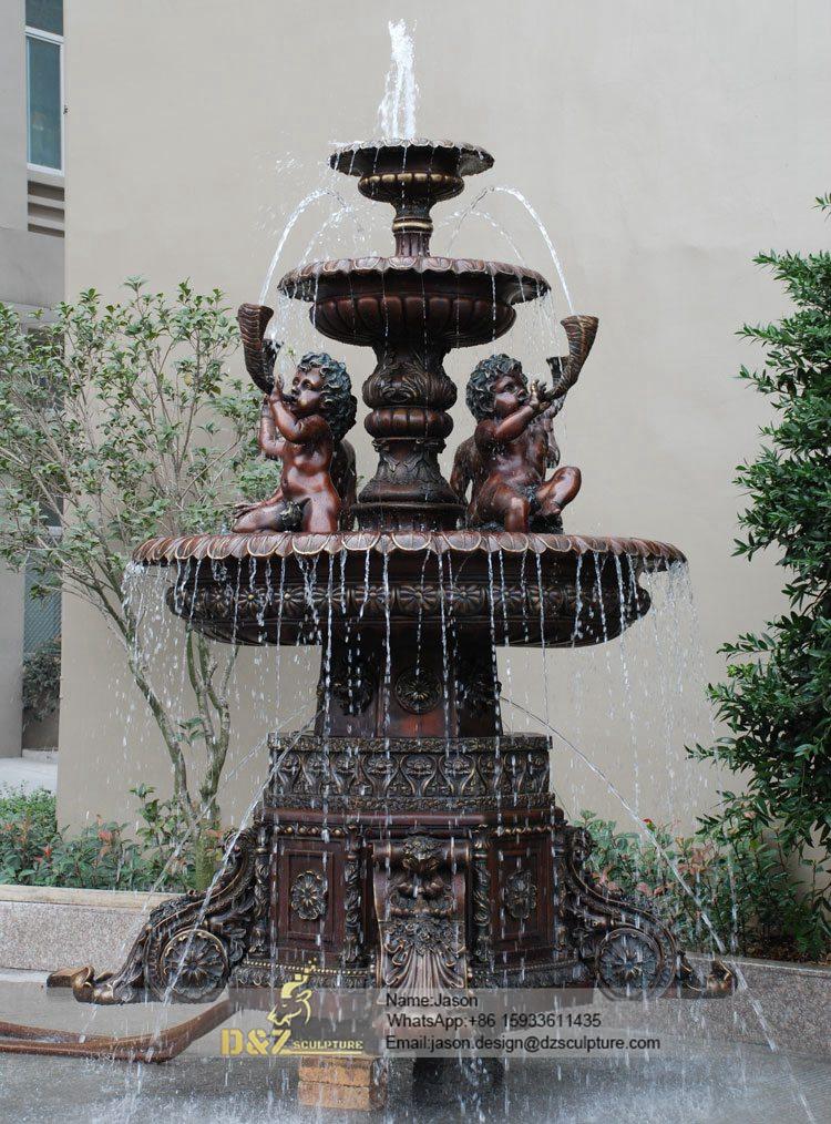 Gadern bronze children fountain