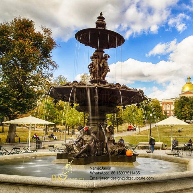 Bronze men fountain