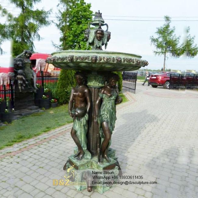 Gadern bronze fountain statue
