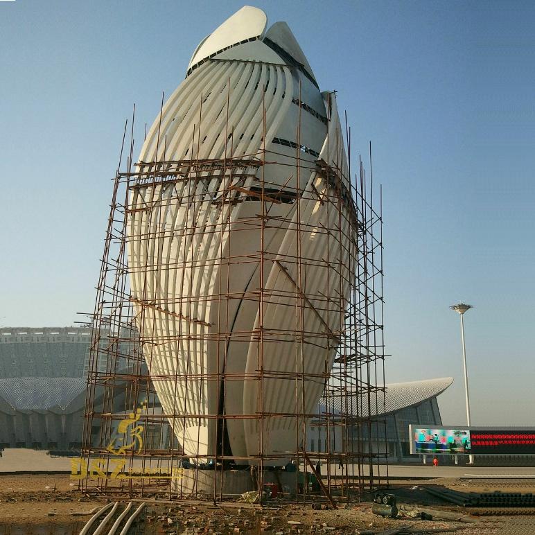 Huge sculpture of art