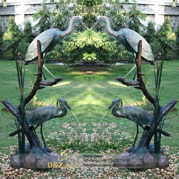 Bronze birds fountain