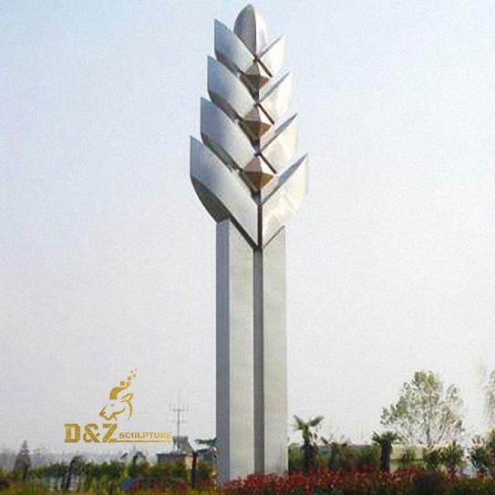 Stainless steel wheat sculpture