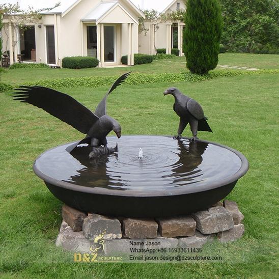 Bronze eagles fountain