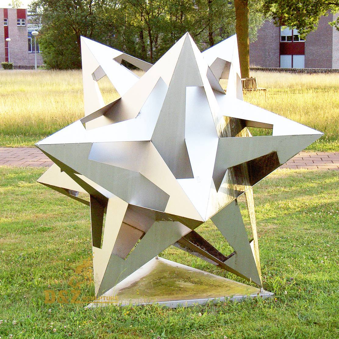 Stainless steel polygon sculpture