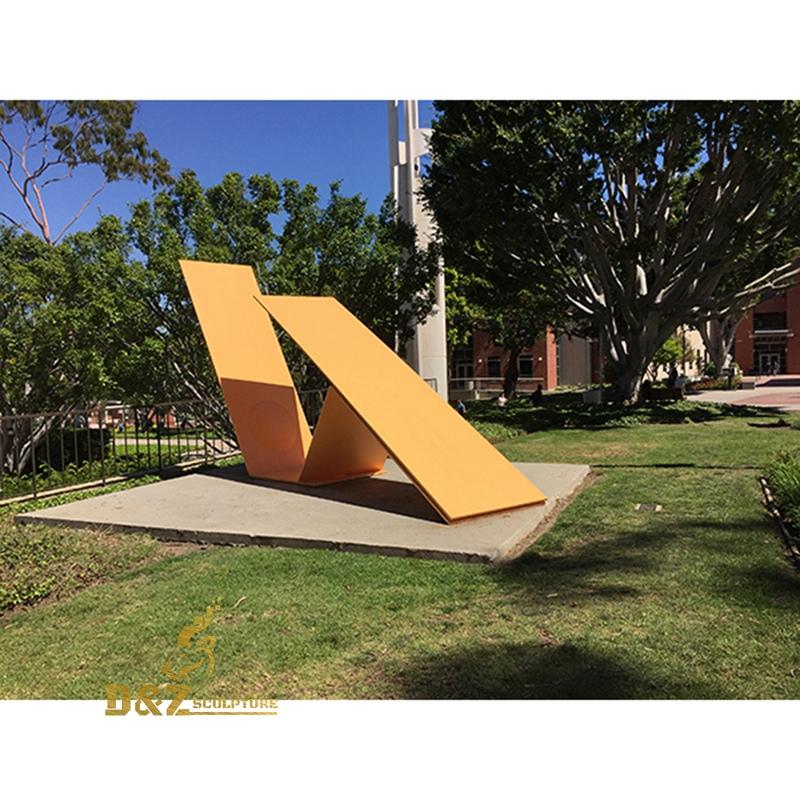 Stainless steel slab sculpture
