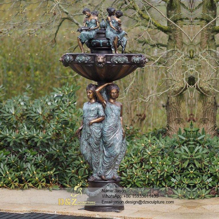 Gadern bronze women fountain