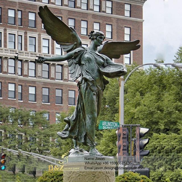 Bronze goddess fountain