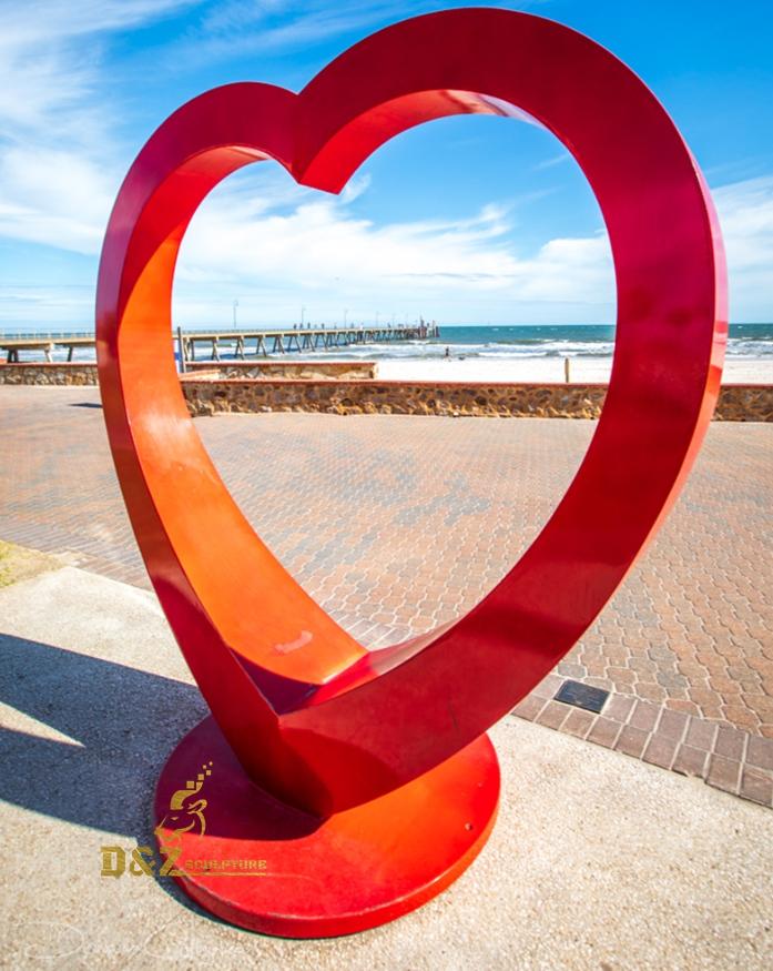 Red heart sculpture