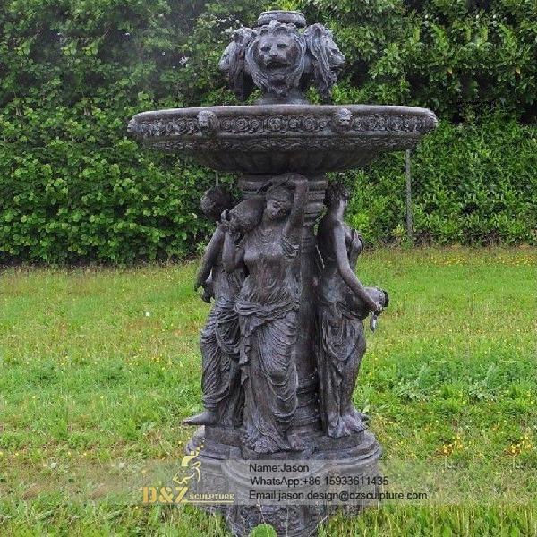 Bronze fountain statue