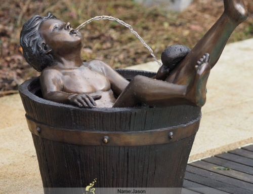 Bronze boy fountain