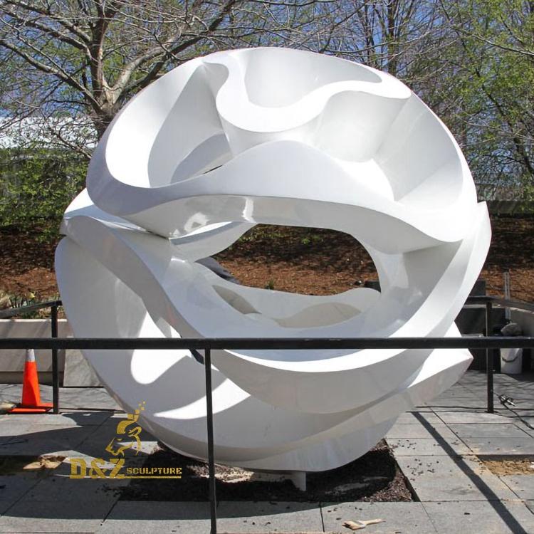 White hollow ball sculpture