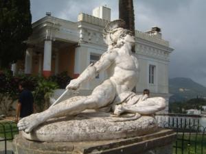 Achilles Greek God in stone