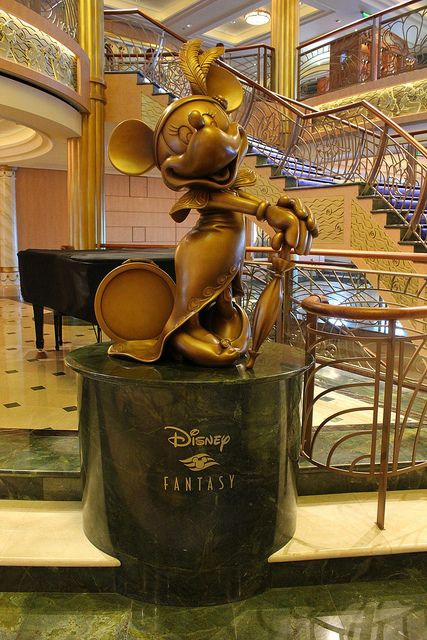 Disney cruise line statues