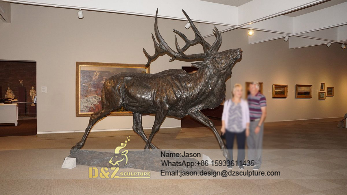 Beautiful elk bronze