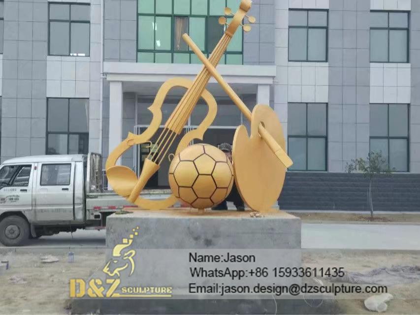 Big instrument sculpture