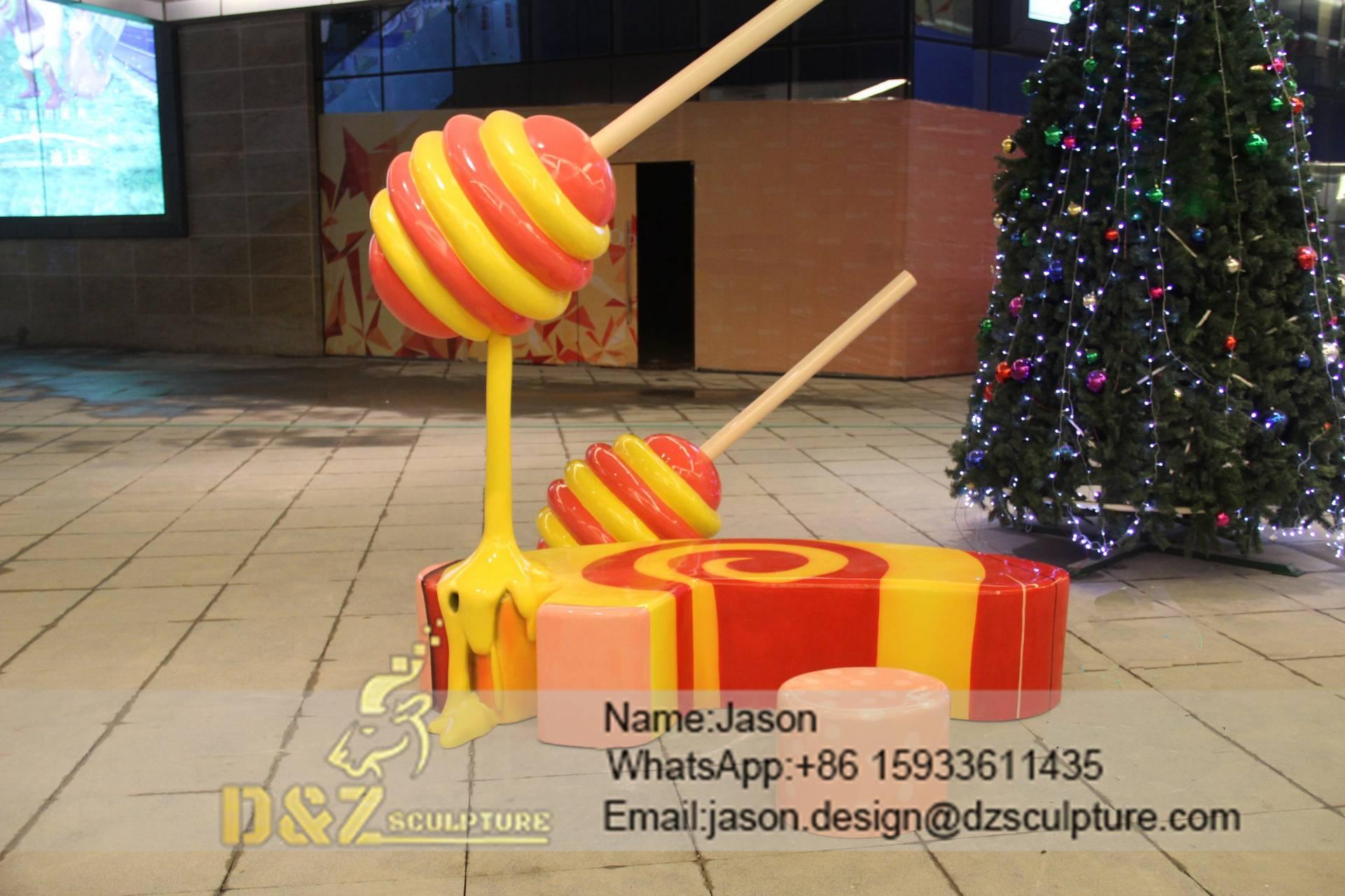 Color lollipop sculpture