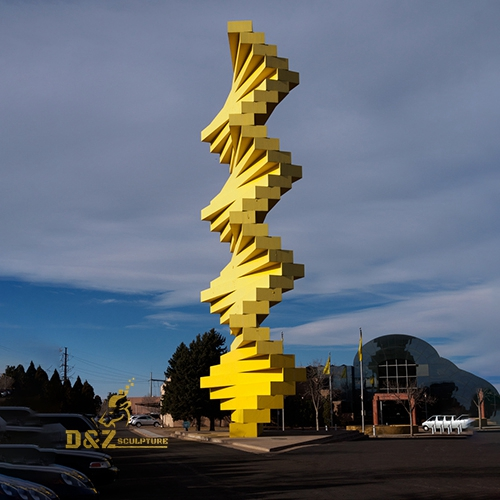 yellow large city sculpture