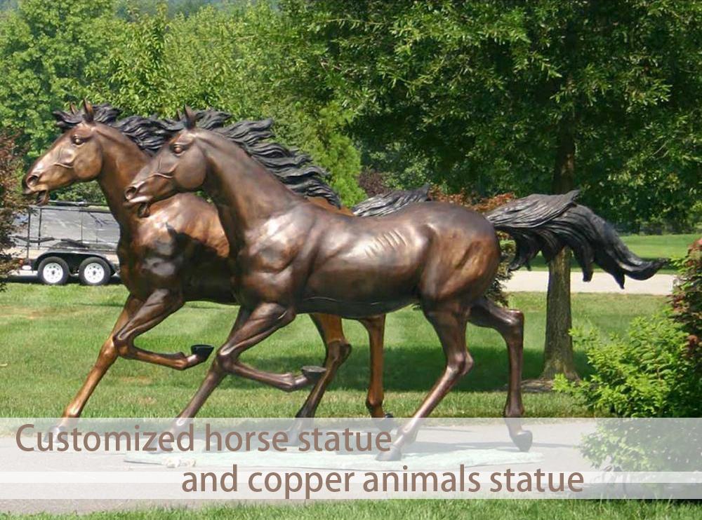 One Pair horse Bronze