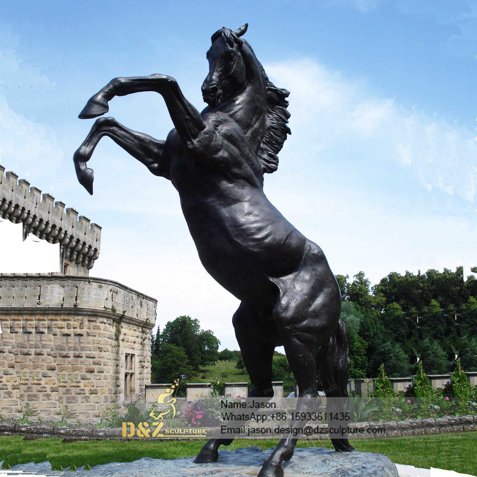 Antique Cast Bronze Horse