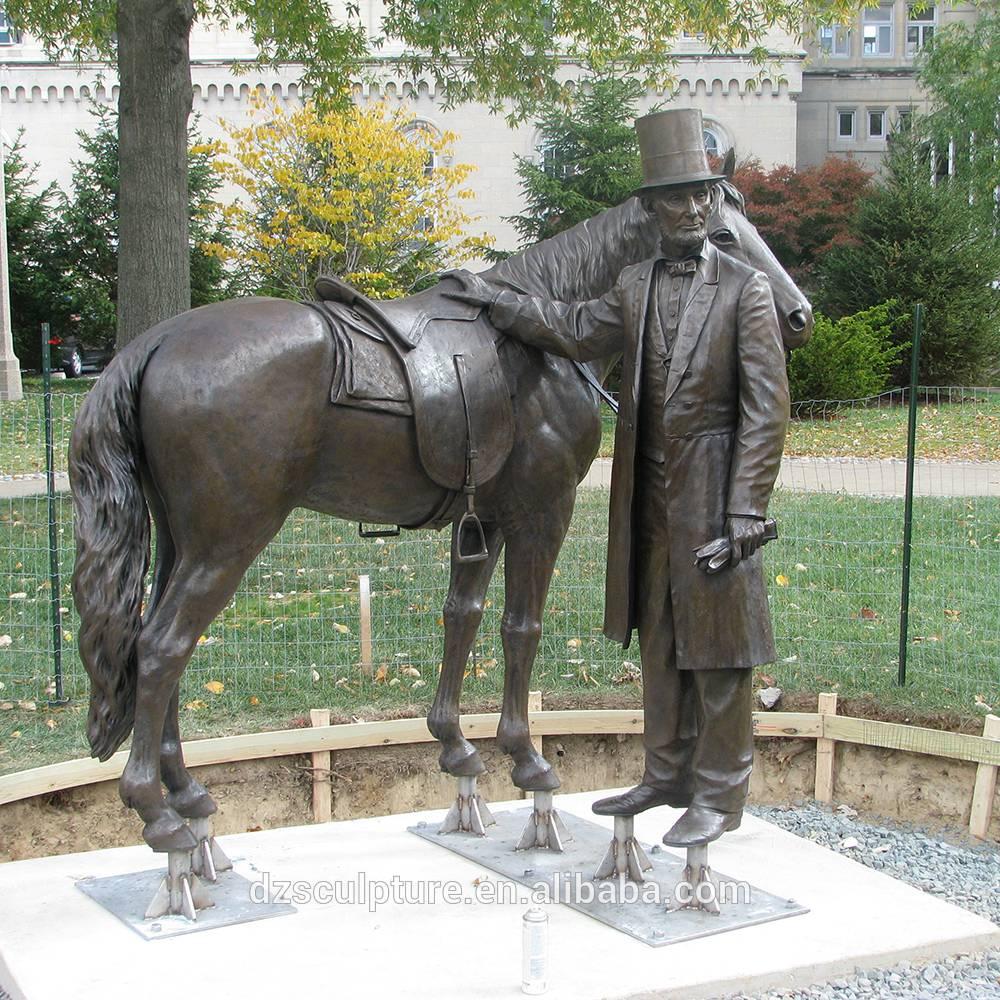horse soldiers bronze casting sculpture