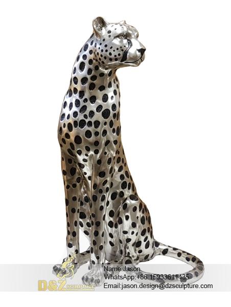 Outdoor Leopard Sculpture