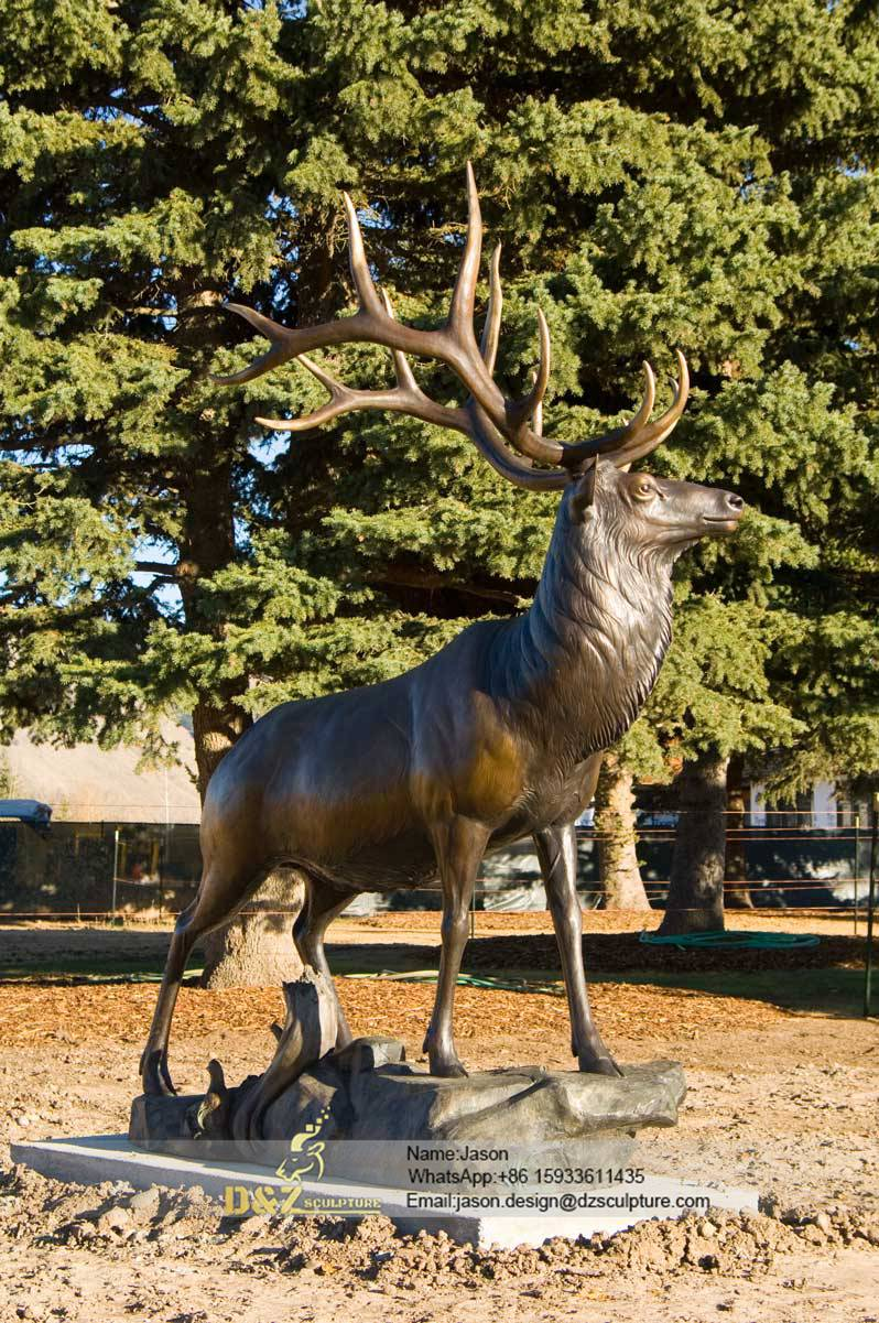 Real size elk statues