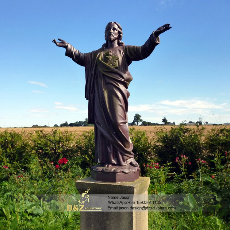 Outdoor bronze jesus statue