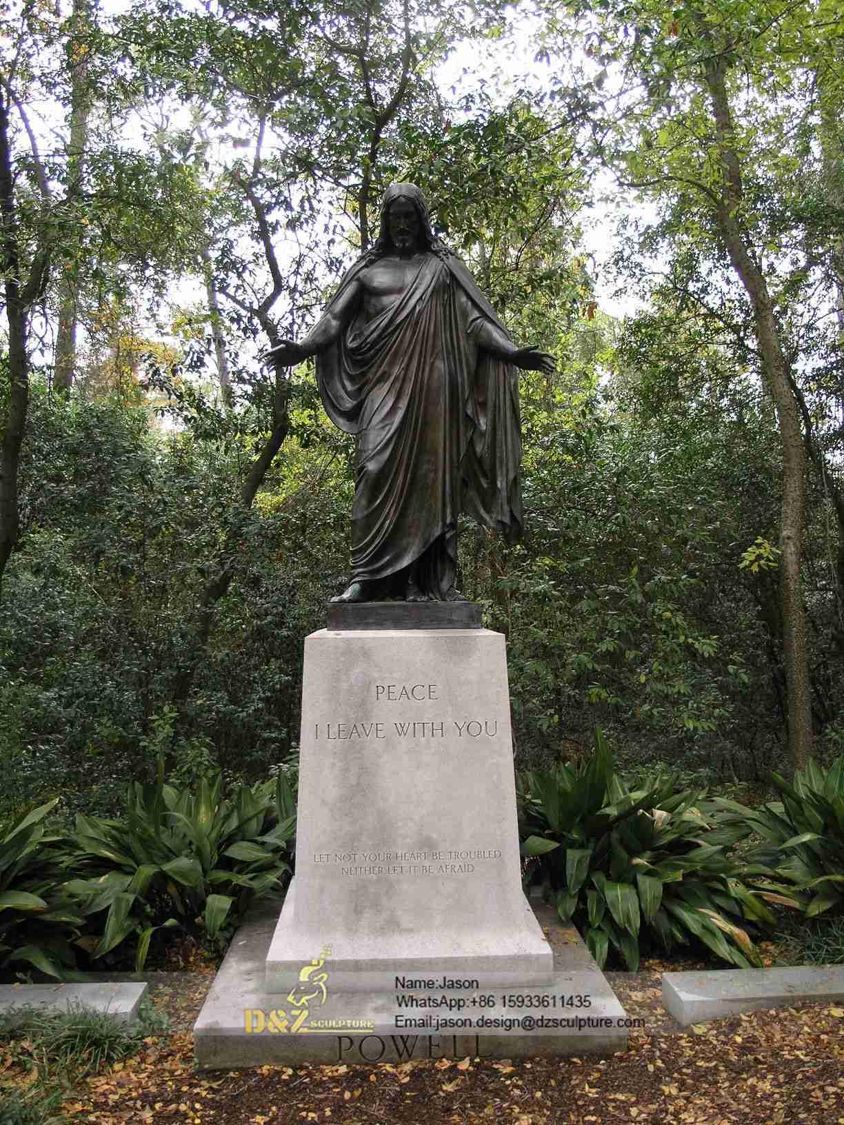 Outdoor casting jesus statue