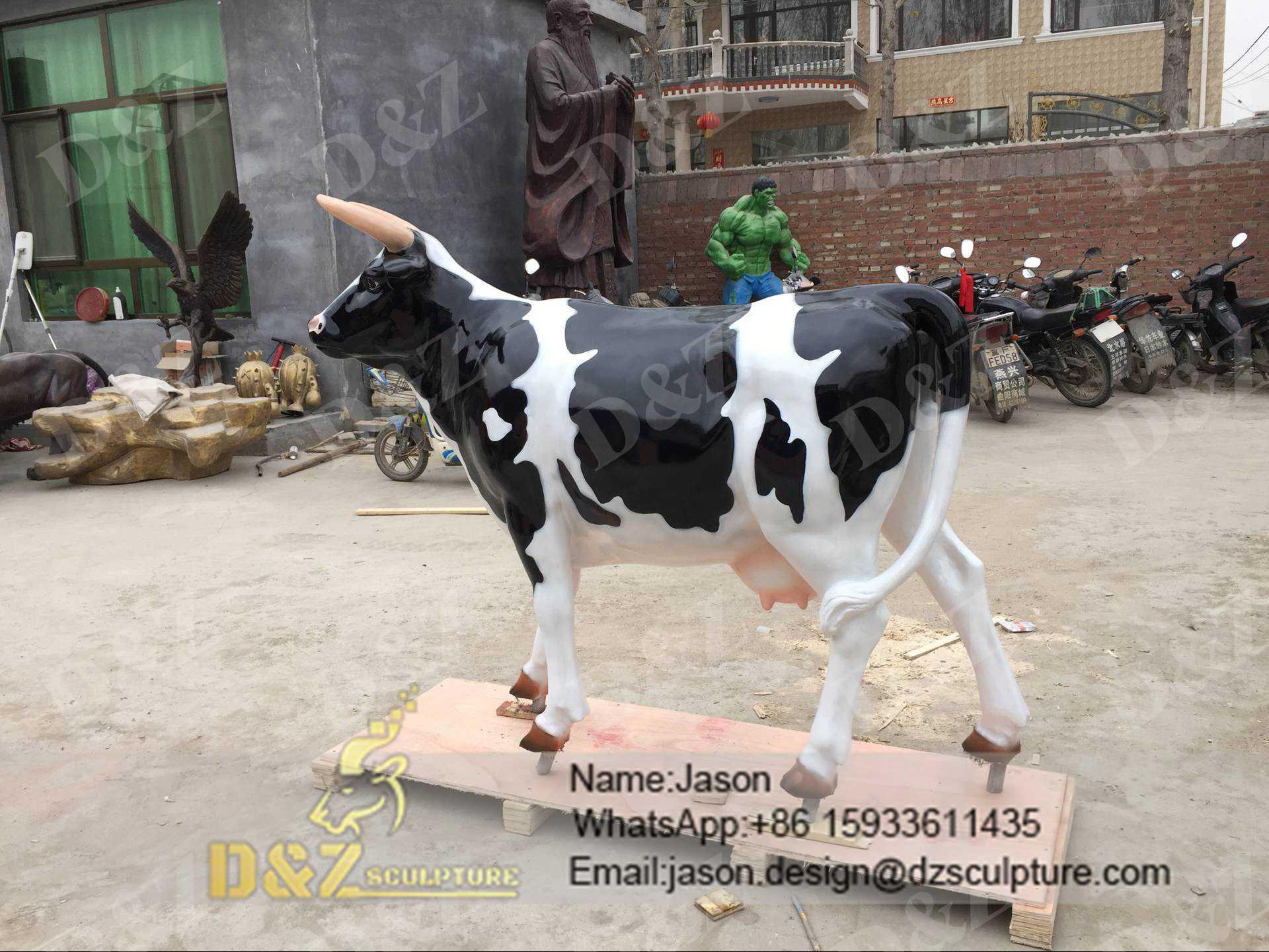 Outdoor Cow Sculpture