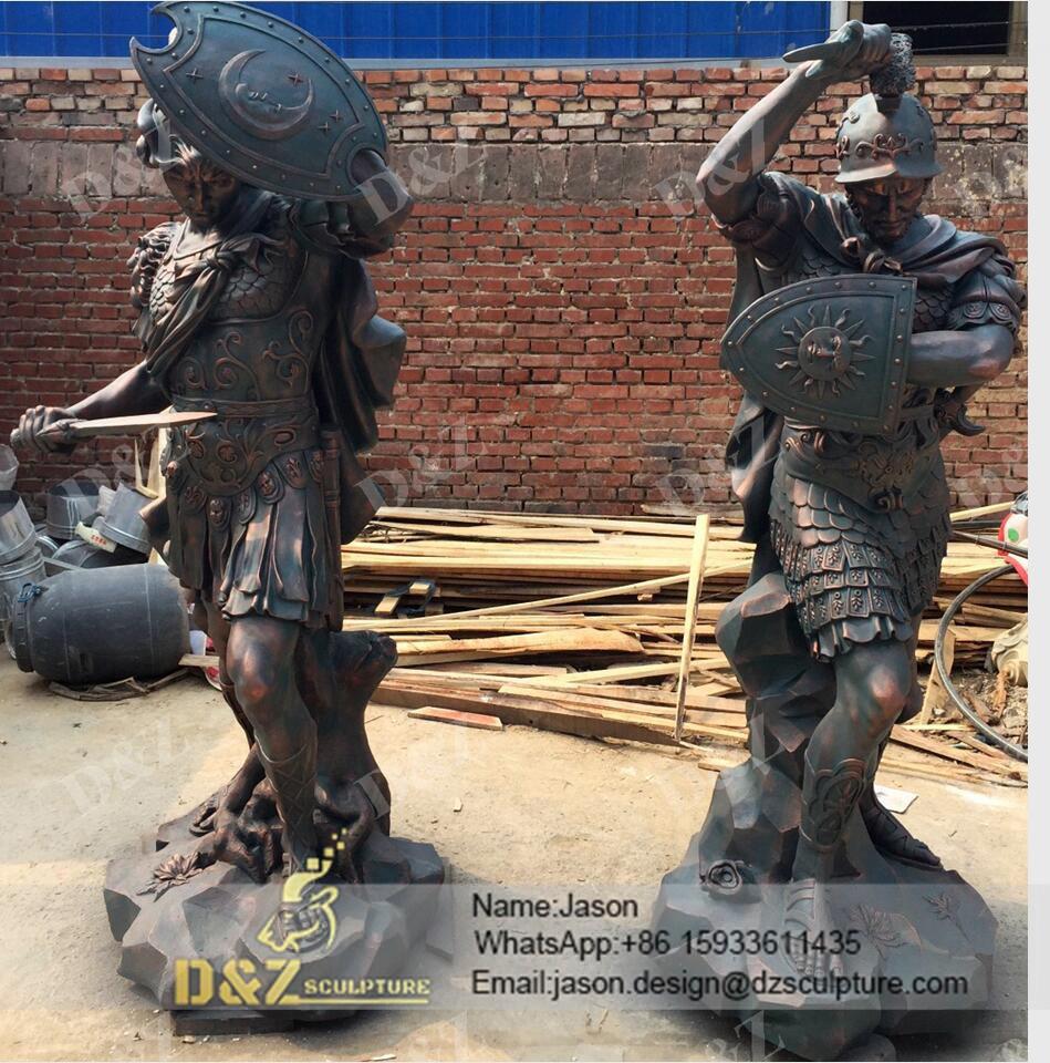 Outdoor Warrior Sculpture