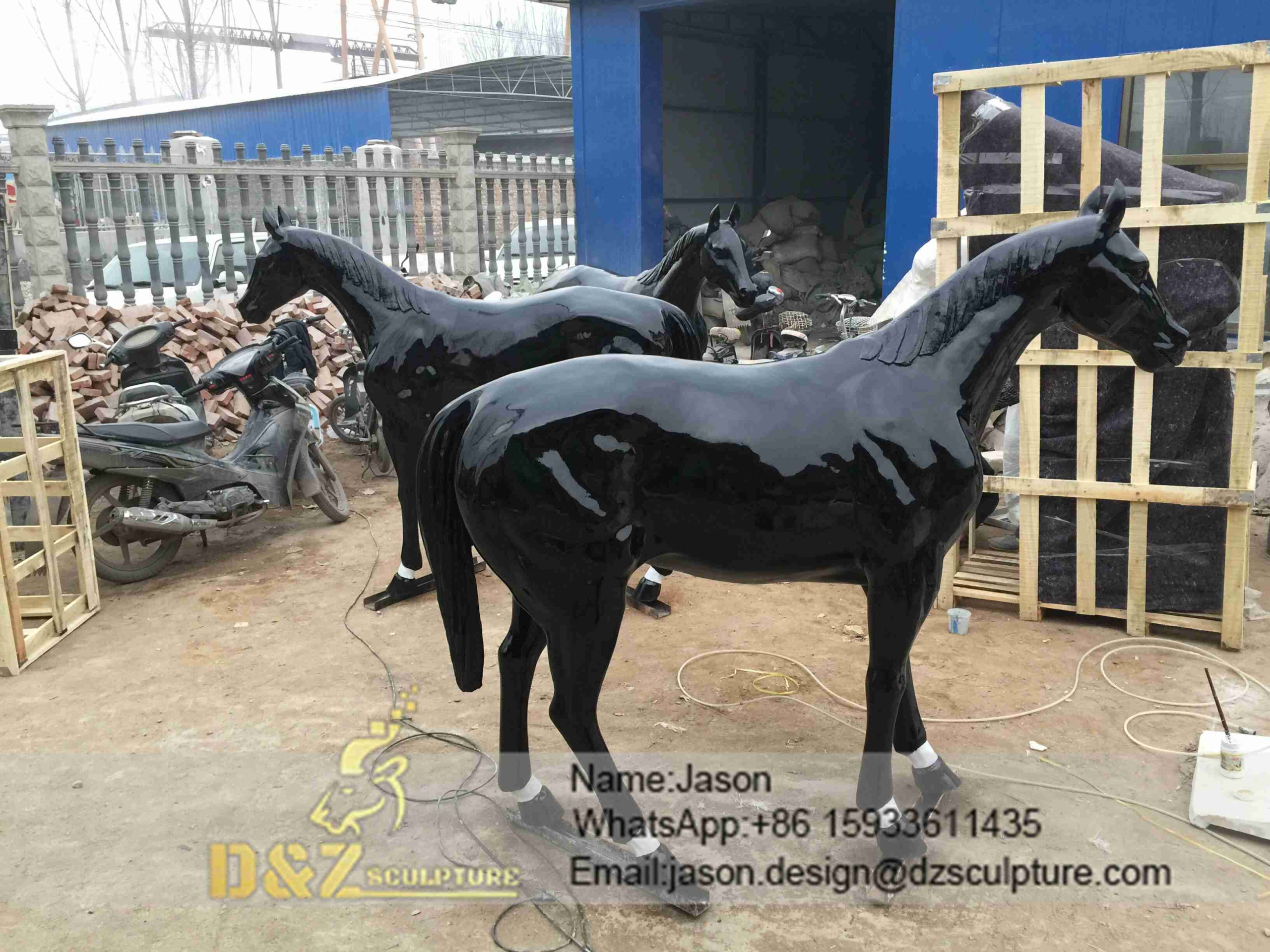 Black Horse Sculpture