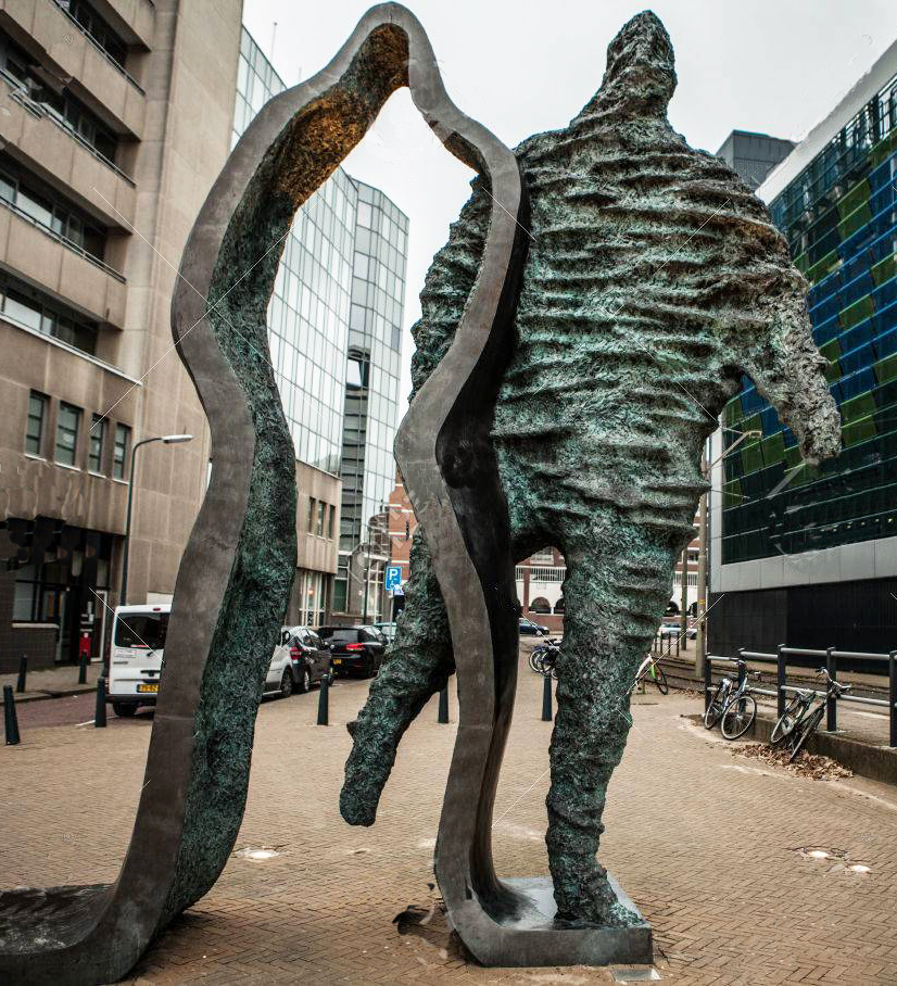 large abstract figure sculpture
