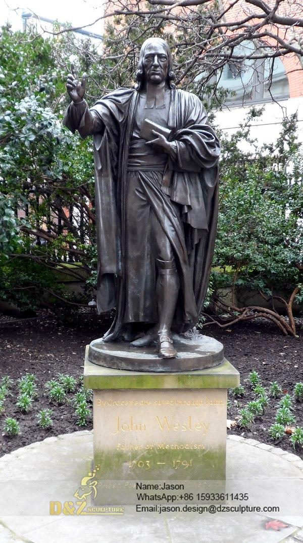 John Wesley standing sculpture