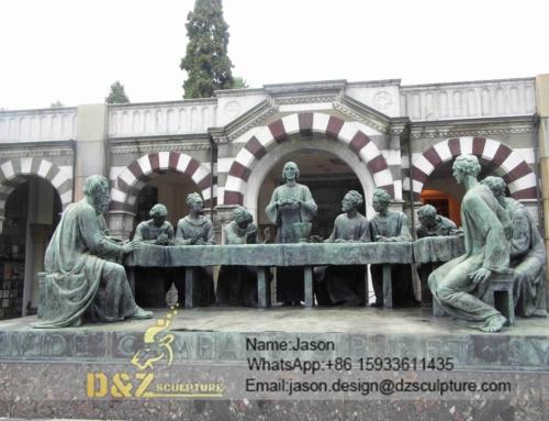 Last supper bronze sculpture