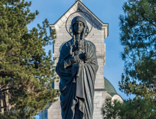 Contemporary church Mary sculpture