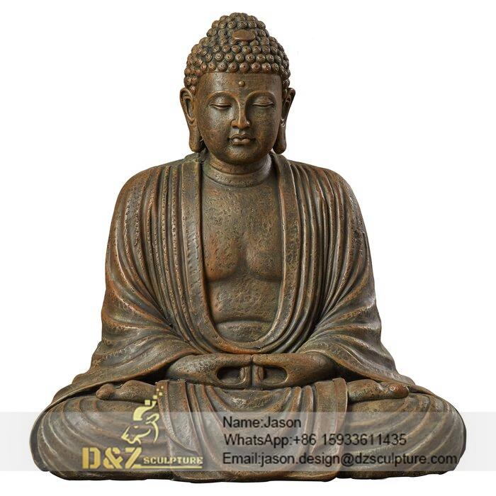 metal sitting buddha statue