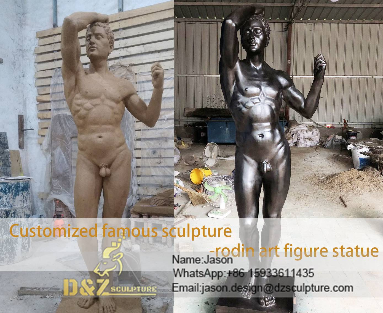 rodin art figure statue